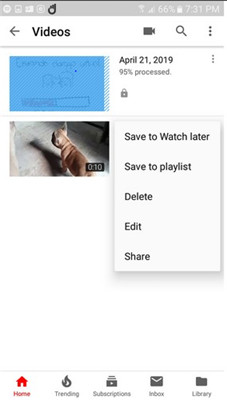 edit video youtube android