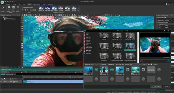 Editor de vídeo VSDC