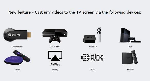 cast video naar tv