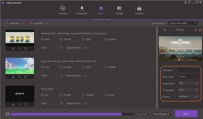 hoe video branden naar dvd