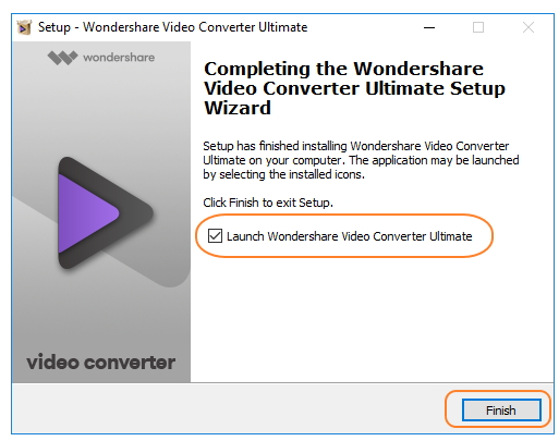 Installeren Wondershare Video Converter Ultimate - Start Wondershare Video Converter Ultimate