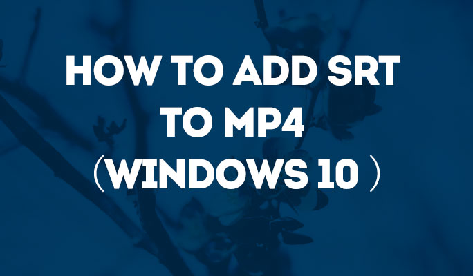 How to Add SRT to MP4 (Windows 10 included)