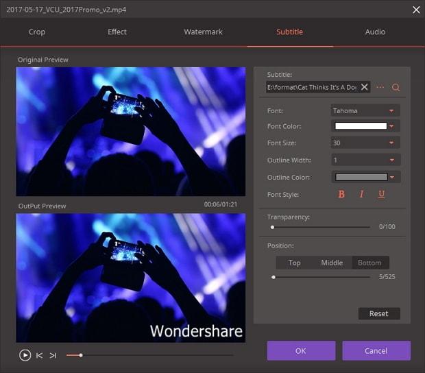 الفيديو Wondershare Video Converter Ultimateنسخة 2018,2017 home_add_subtitles.j