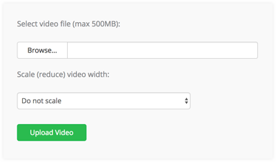 VideoSmaller - Compressor de vídeo online